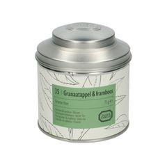 Granaatappel & framboos, Groene thee, blik, 75 gram
