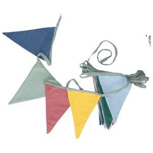 Guirlande de drapeaux, coton bio, multicolore, 6,5 m