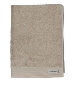 Handdoek, bio-katoen, licht taupe, 50 x 100 cm