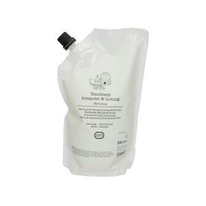 Handzeep navulling, amandel & honing, 500 ml