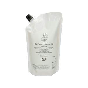Handzeep navulling, vijg & roos, 500 ml,