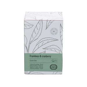 Hinbeere & Cranberry, grüner Tee, 15 Teebeutel