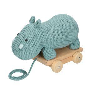 Hippopotame sur roulettes, crochet, à partir de 12 mois