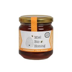 Honing, oranjebloesem, biologisch, 250 gram