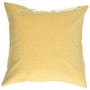 Housse de coussin, coton bio, jaune chiné, 45 x 45 cm