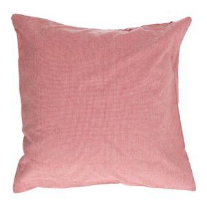Housse de coussin, coton bio, rose foncé chiné, 45 x 45 cm