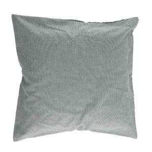 Housse de coussin, coton bio, vert chiné, 45 x 45 cm