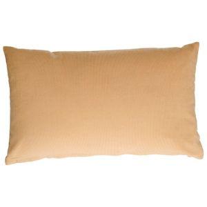 Housse de coussin, velours côtelé, jaune sable, 30 x 50 cm
