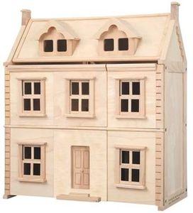 Houten poppenhuis, rubberhout, 73 x 64 cm
