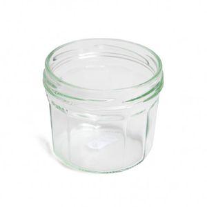 Inmaakpot met facetten, deksel apart verkrijgbaar, 240 ml