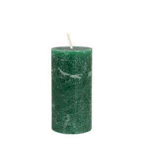 Kaars, groen jungle, 6x12 cm