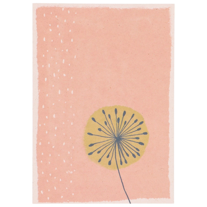 Kaart, plantaardig papier, paardenbloem, 14,8 x 10,5 cm