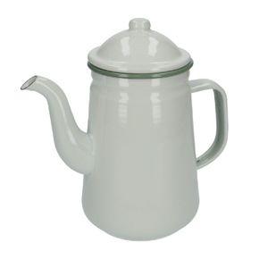 Kaffeekanne, Emaille, weiß, 1,3 Liter