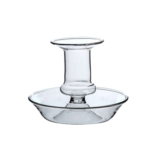 Kandelaar, glas, Ø 9 cm