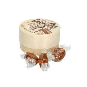 Karamelsnoepjes in een houten doosje, 50 gram