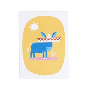 Karte, Esel mit Sombrero