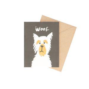 Karte mit Umschlag, Woof