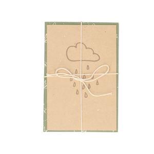 Karten mit Umschlag, Dung-Papier, 4 Stück