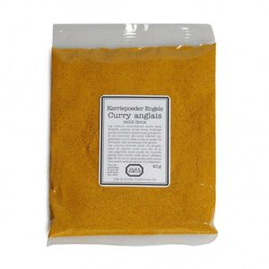 Kerriepoeder Engels, 40 gram