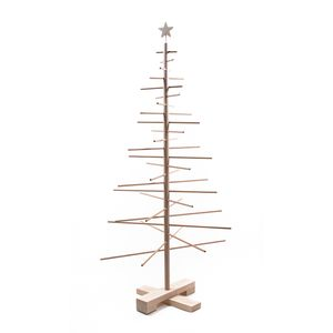 Kerstboom van hout, 125 cm