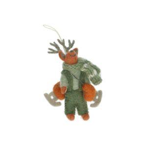 Kersthanger meneer hert, vilt, 11 cm