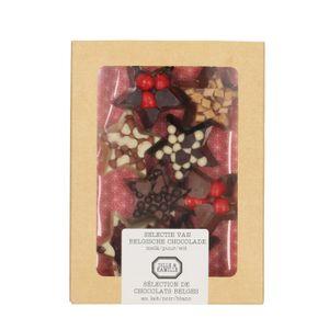 Kerststerren, chocolade, 8 stuks, 135 gram