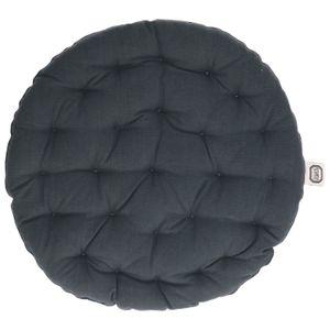Kissen rund, dunkelgrau, Ø 40 cm