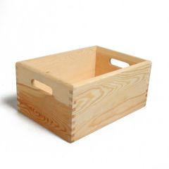 Kistje, naaldhout, 30 x 21 x 13,5 cm