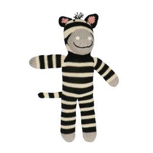 Knuffelbeest zebra, katoen, 0+