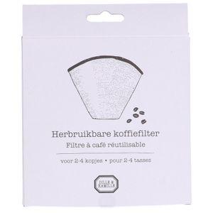 Koffiefilter herbruikbaar, RVS, 2-4 kopjes