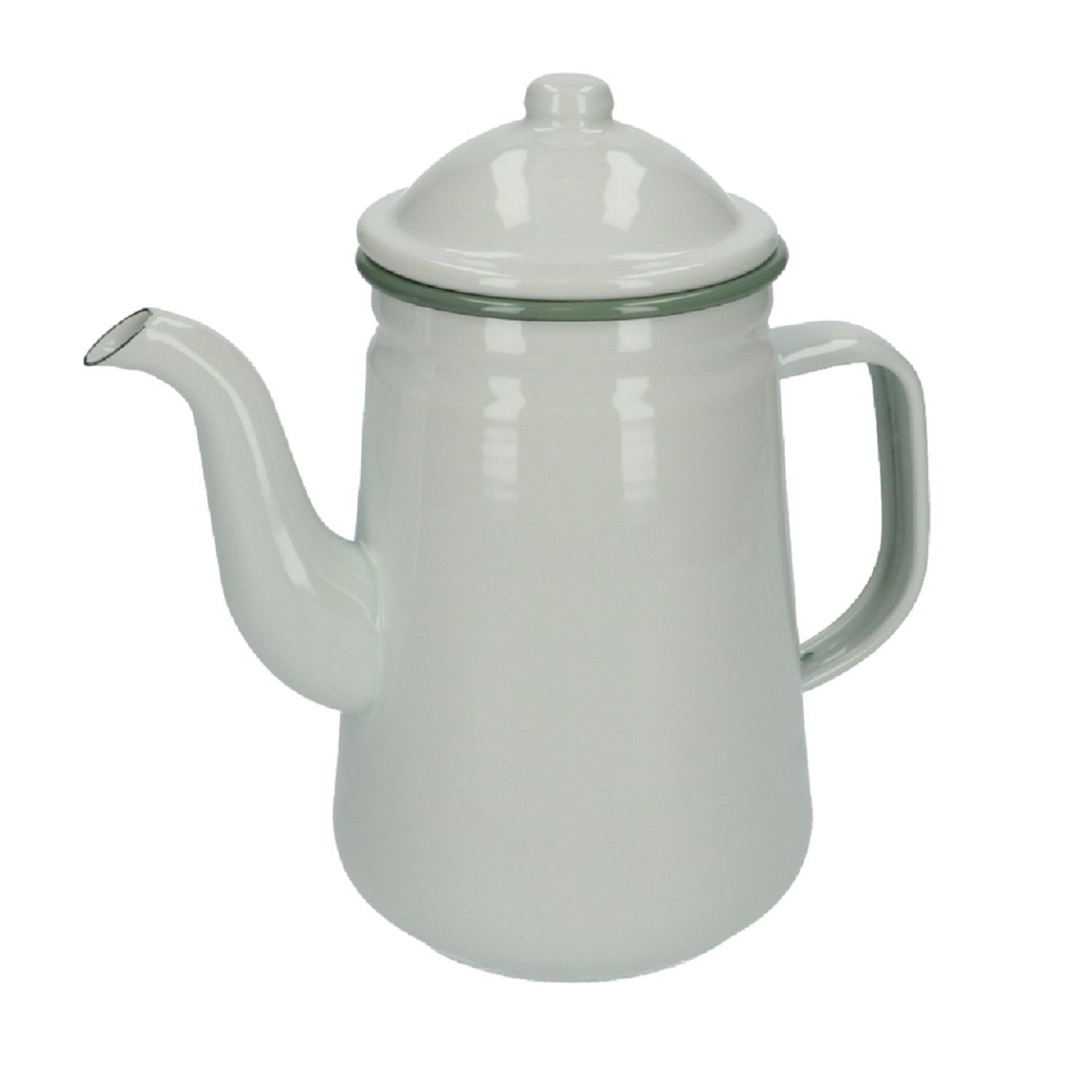 Koffiepot, emaille, wit, 1,3 L