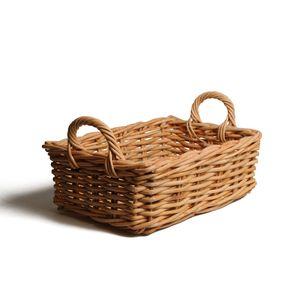 Korb mit Griff aus Rattan, 34 x 30 x 19 cm