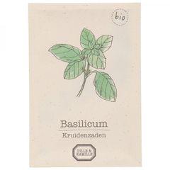 Kruidenzaden, biologisch, basilicum
