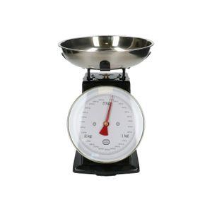 Küchenwaage, Metall, schwarz, 3 kg