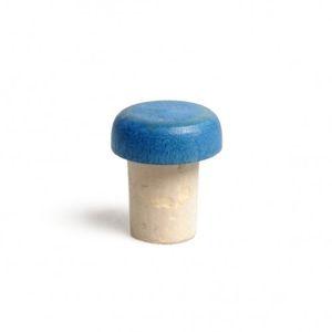 Kurk, met beukenhouten knop, blauw