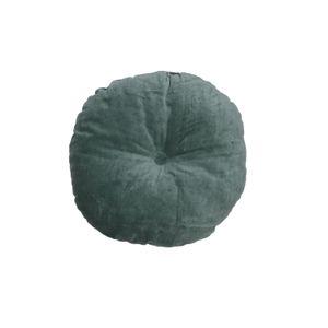 Kussen, velours, groen, Ø 40 cm