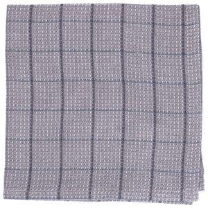 Lavette, coton bio, gris carreaux, 40 x 40 cm