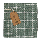 Lavette, coton bio, gris-vert/blanc, à carreaux