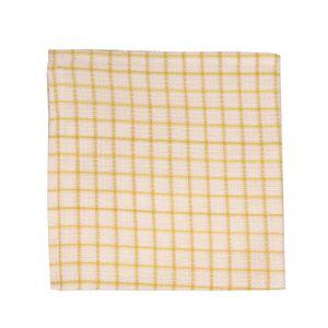 Lavette, coton bio, jaune clair à carreaux, 40 x 40 cm