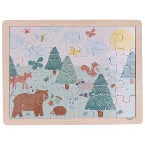 Legpuzzel, hout, dieren in het bos, 3+