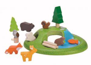 Les animaux de la forêt, bois d'hévéa, 3+