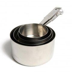 Maatpannetjes in cups en ml. set van 4