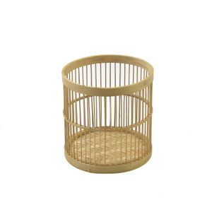 Mand, bamboe, Ø 16 x 16 cm