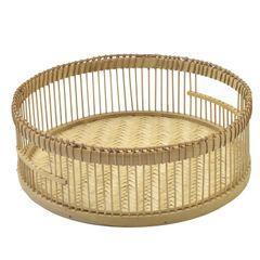 Mand, bamboe, Ø 35 x 11,5 cm
