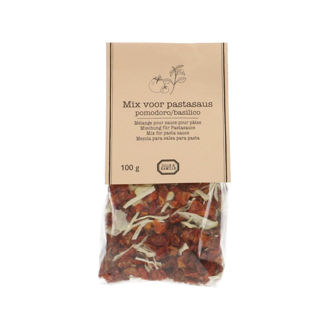 Mix voor pastasaus, tomaat en basilicum, 100 gram