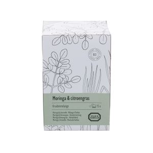 Moringa & citroengras, Kruidenmelange, 15 theebuiltjes
