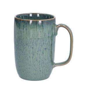 Mug email réactif, grès, vert, 12 cm