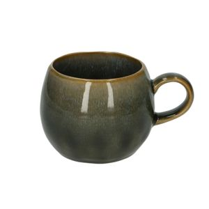 Mug rond, email réactif, grès, bleu, Ø 12 cm