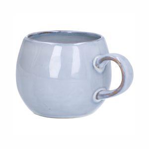 Mug rond, email réactif, grès, gris, Ø 12 cm