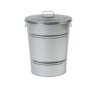 Mülleimer, leicht zulaufend, Zink, 55 l